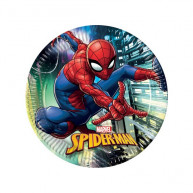 Piatto 23 cm Spiderman 8 pz