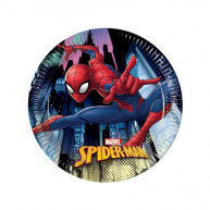 Piatto 20 cm Spiderman 8 pz