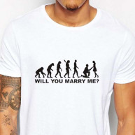 T-shirt wedding loading bianca uomo