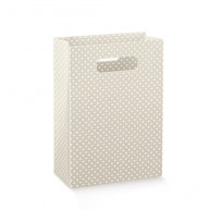Wedding bag Pois tortora 10 pezzi