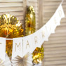 Banner just married bianco e oro
