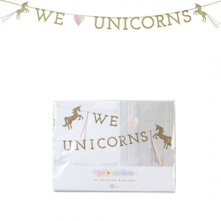 Banner decorativo unicorno