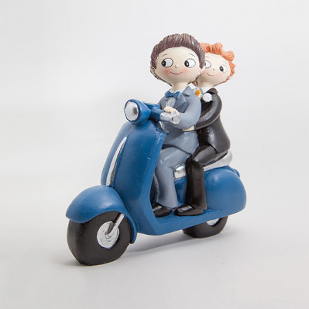 Cake topper Boys in moto