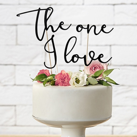 Cake topper the one i love