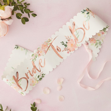 Fascia bride to be floral