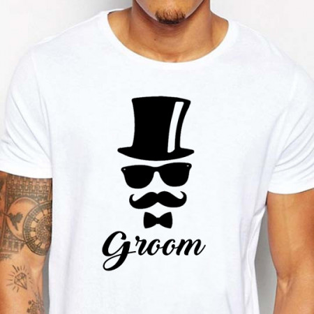 t-shirt groom cilindro