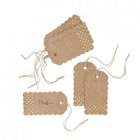 Wedding tags wedding gold 10 pezzi