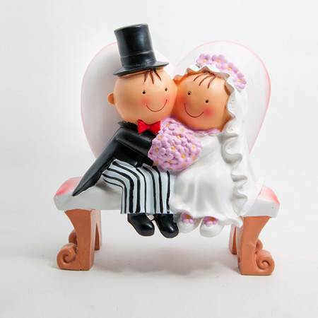 Cake Topper Sposi Panchina