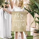 Banner Here comes the bride Juta