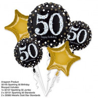 Bouquet Palloncini Happy birthday 50 anni