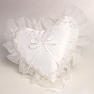 HEART WEDDING RING PILLOW BEADS