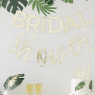 Banner bridal shower tema botanico