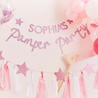 Banner pamper party personalizzabile