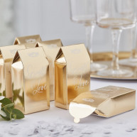 Box con coriandoli gold wedding