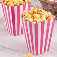 Box pop corn rosa e bianco