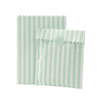 10 BAGS FOR CANDY BAR WITH CLOSURE MINT COLOUR