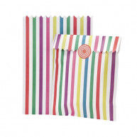 BAGS FOR CANDY BAR WITH CLOSURE STRIPES COLOR