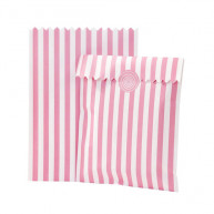 20 BAGS FOR CANDY BAR WITH CLOSURE PINK