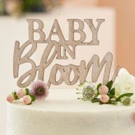 Cake topper in legno baby in bloom