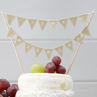 CAKE TOPPER VINTAGE FLAGS