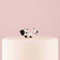 CAKE TOPPER - BLACK AND WHITE LITTLE CAT