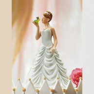 CAKE TOPPER - BRIDE AND FROG