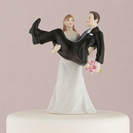 CAKE TOPPER - GROOM IN HER ARMS