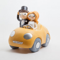 CAKE TOPPER - YELLOW CAR