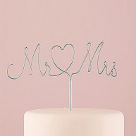 CAKE TOPPER MR AND MRS