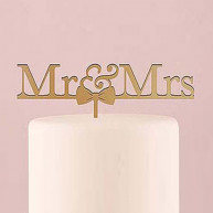 CAKE TOPPER MR & MRS GOLD