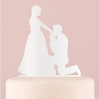 WHITE SILHOUETTE CAKE TOPPER KNEELING TO YOU