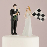 CAKE TOPPER - BRIDE AND GROOM TO FINISHING LINE