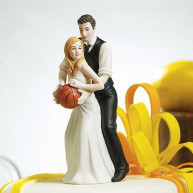 CAKE TOPPER - BRIDE AND GROOM BASKETBALL