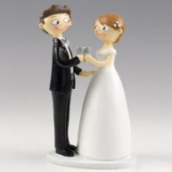 CAKE TOPPER - TOAST HAND BY HAND