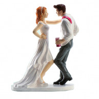 CAKE TOPPER - BRIDE AND GROOM DISCO LOVE