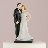 CAKE TOPPER - BRIDE AND GROOM HOLLYWOOD