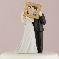 CAKE TOPPER - BRIDE AND GROOM FRAME