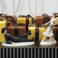 CAKE TOPPER - WESTERN BRIDE AND GROOM