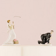 CAKE TOPPER - GROOM HANGED FROM A FISH HOOK