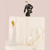 CAKE TOPPER - GROOM CALLS TO HIS BRIDE