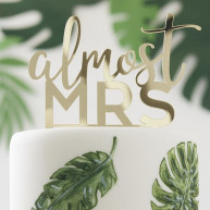 Cake topper almost mrs