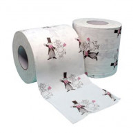2 TOILET PAPER - BRIDE AND GROOM