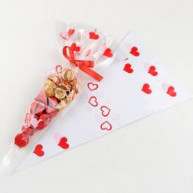 100 CONFETTI CONE - RED HEART