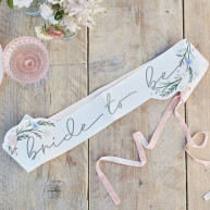 "Fascia ""Bride to be"" fiori di campo"