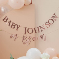 Ghirlanda personalizzabile baby in bloom