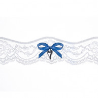 GARTER BLUE BOW AND HEART PENDANT
