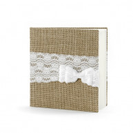 Guest book country lace