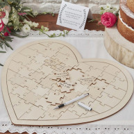 GUEST BOOK PUZZLE HEART