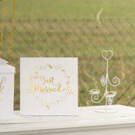 Guest book just married gold