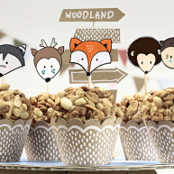 Kit Cupcake animaletti natural wedding 6 pezzi
